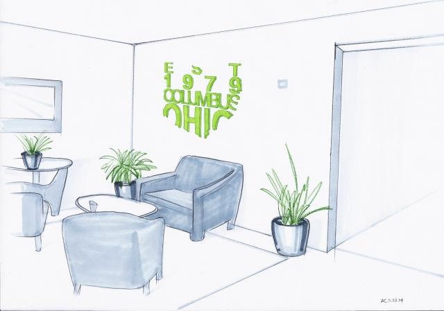 waiting area rendering 2