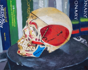 Alex Conrad skull painting