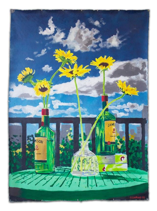 Alex Conrad Still Life with Bottles