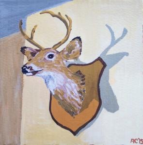 Alex Conrad Deer Head painting