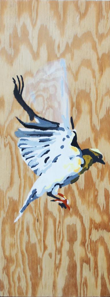 Alex Conrad gold finch painting 2