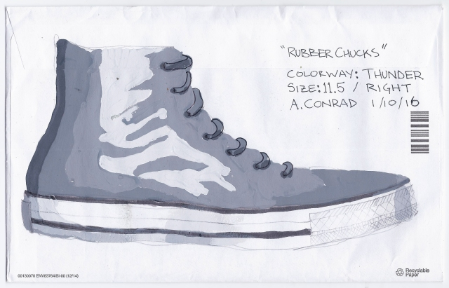 Alex Conrad rubber Chucks sketch