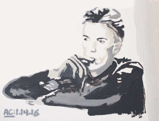 Alex Conrad David Bowie sketch 1