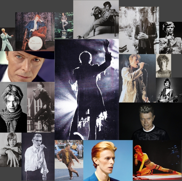 montage of Bowie