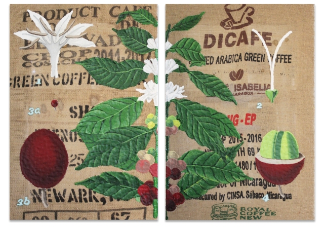 Alex Conrad coffee diptych