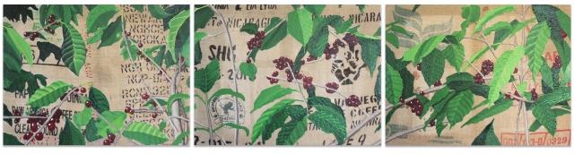 Alex Conrad coffee triptych
