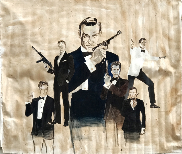 JamesBond oil sketch